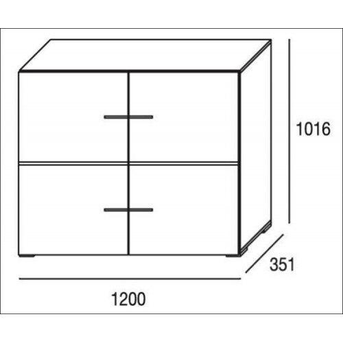 Mueble de salón completo, color cambrian y blanco, muebles de TV, apilables ref-182 3