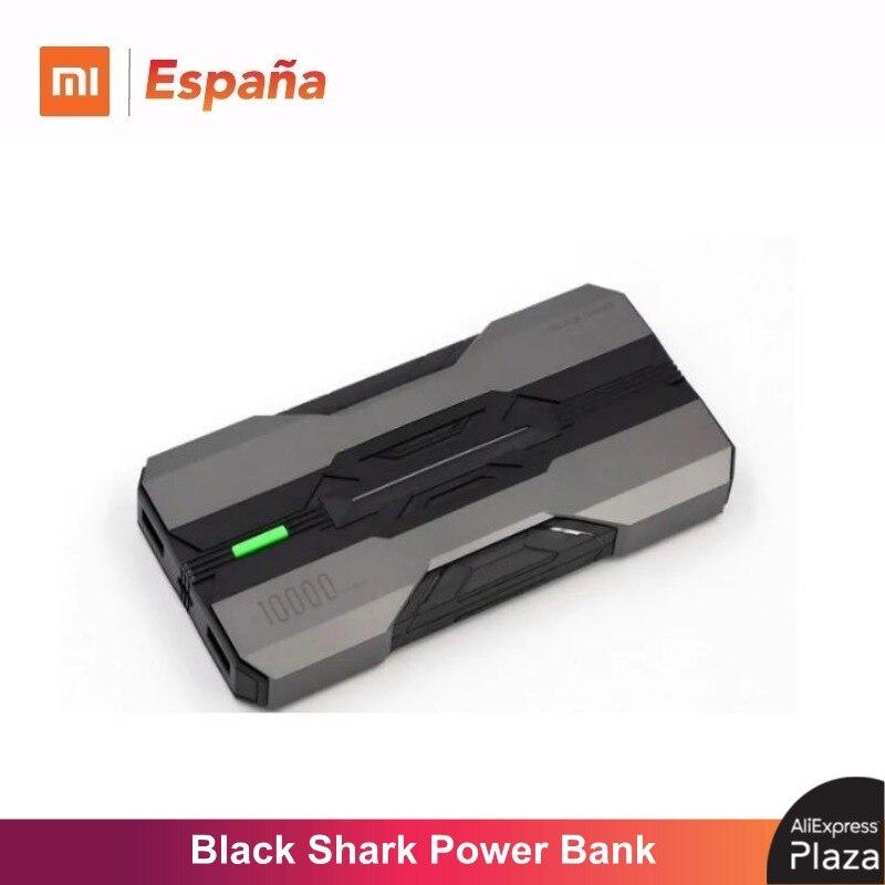 Black Shark Power Bank (10.000 mah, carga bidireccional y rápida hasta 18W, Batería Portatil) Reloj Despertador LED de madera, reloj de mesa con Control de voz, Despertador Digital de madera, escritorio electrónico, relojes alimentados por USB/AAA, Decoración de mesa