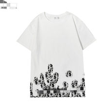 2021 new classic monogram print round neck short sleeve summer casual street T-shirt for men and women