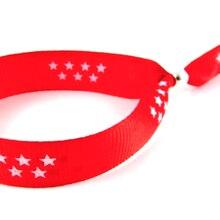 Bracelet a fermoir metallique reglable en Polyester, drapeau de la communauté de Madrid