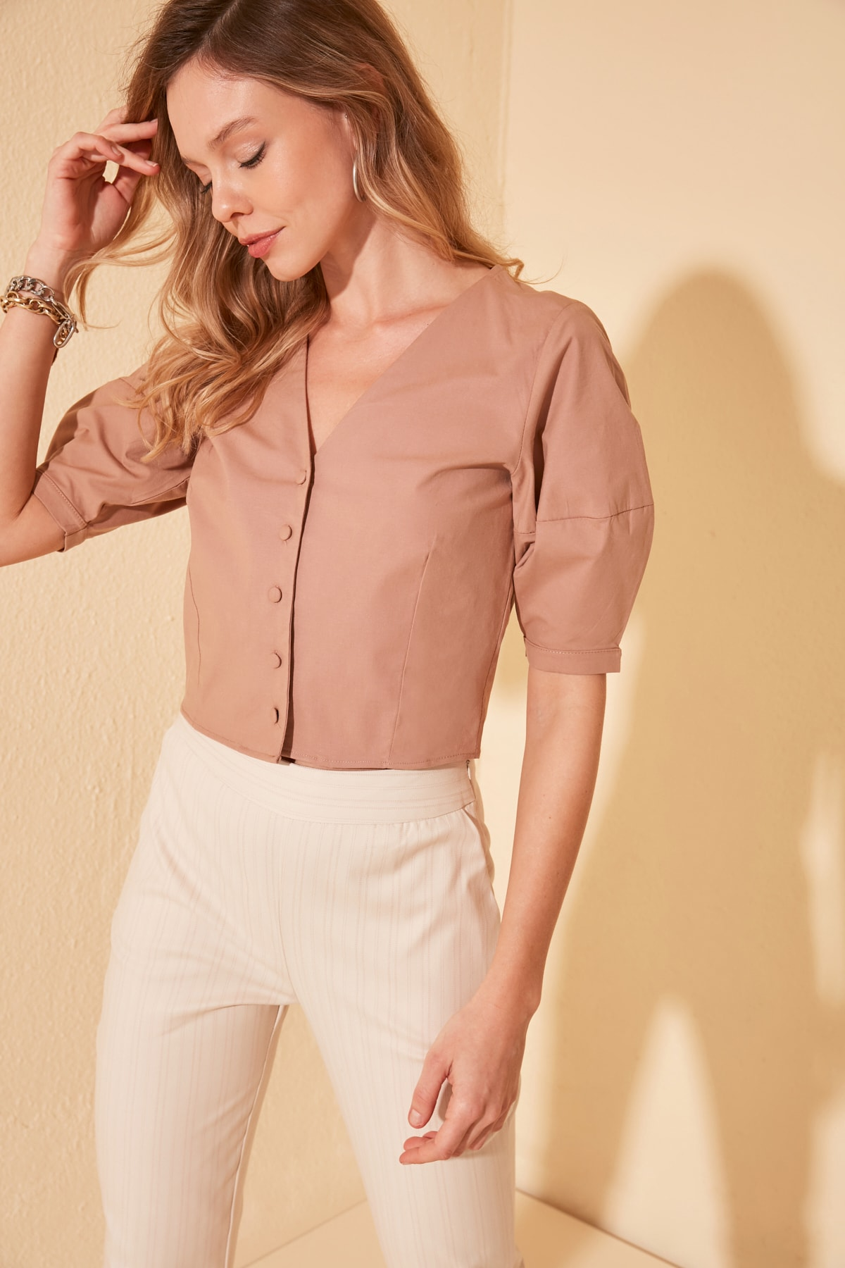 Trendyol Crop Top Blouse TWOSS20BZ0741