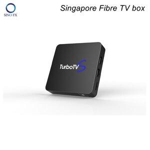 2019 TurboTV Box Singapore Fiber TV Box Android 7.1 2G/16G 4K TurbotvS fibre box(China)
