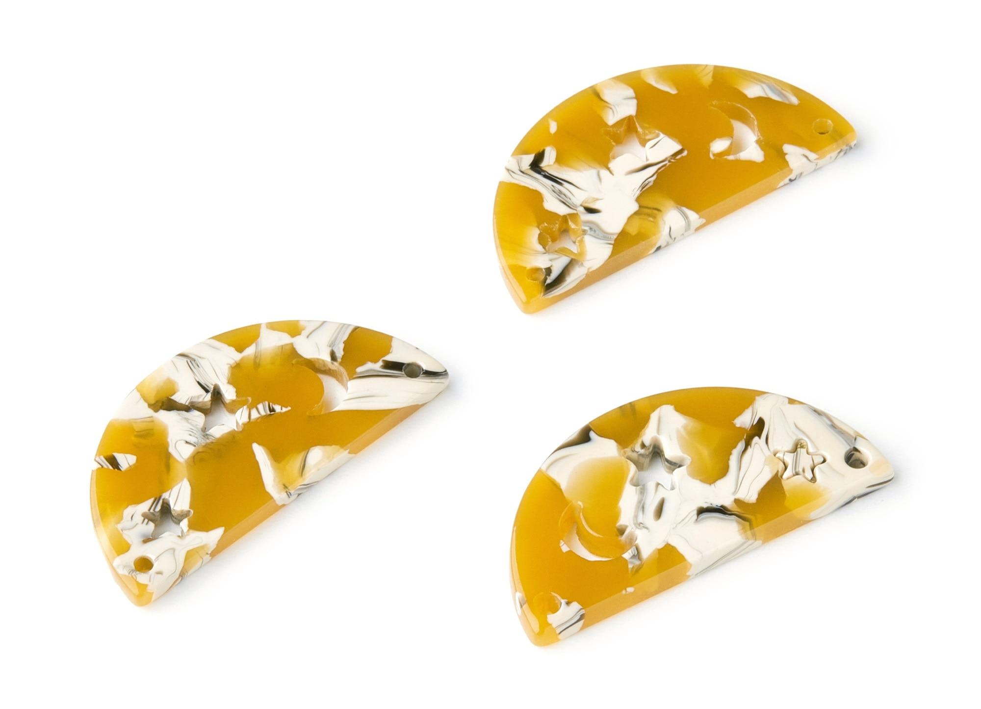 Fan Pendant Earring Findings AC1376K Color Code:A45-23.64x17.3x2.83mm Jewelry Supplies Acetate Acrylic Fan Earring Charm