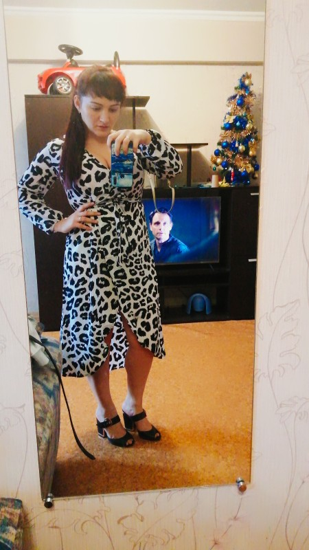 Leopard Dress 2019 Women Chiffon Long Beach Dress Loose Long Sleeve Deep V neck A line Sexy Party Dress Vestidos de fiesta|Dresses|   - AliExpress