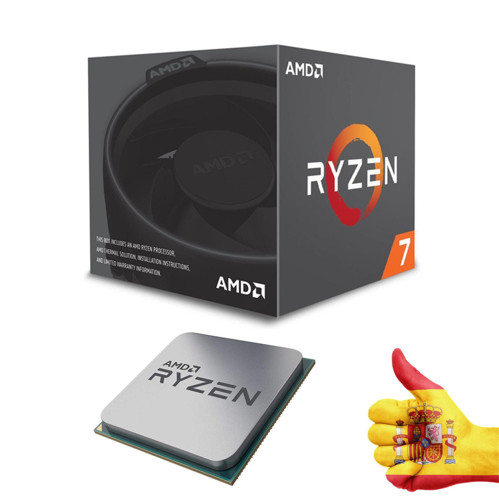 AMD PROCESSOR RYZEN 7 2700X4.35 GHZ 8CORE AM4 image