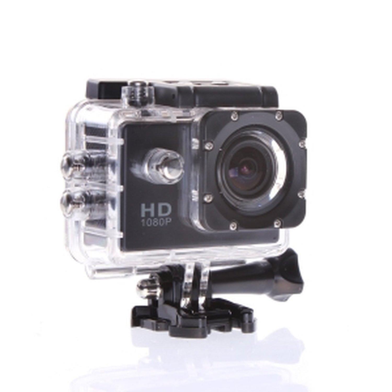 12MP HD 1080P Bicycle Helmet Sports DV Action Waterproof Camera (black)