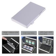 Protector Storage-Box Sim-Cards Anti-Static Micro Tf-Sd-Case Pin-Holder EVA Aluminum