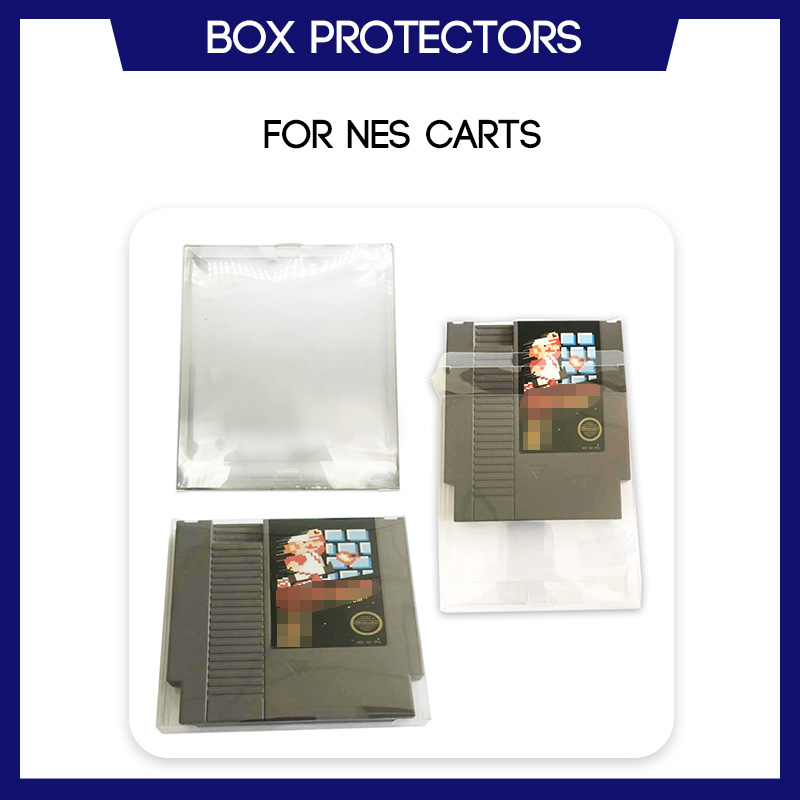 Box Protector Sleeve For Nintendo NES Cart Cartridge Game Custom Made Clear Plastic Case