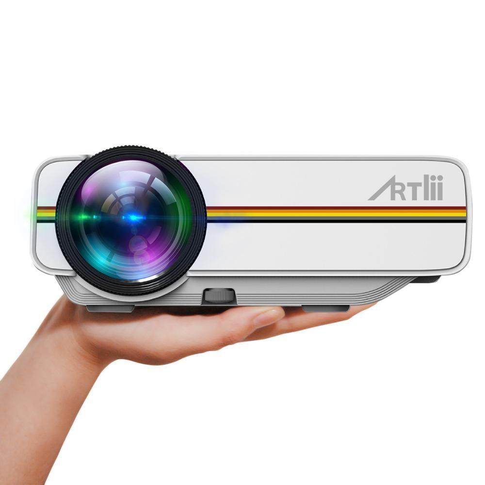 Projecteur multimédia Artlii Portable Proyector 1800 Lumen USB SD HDMI Support de Projection grand écran 1080p projecteur Home cinéma