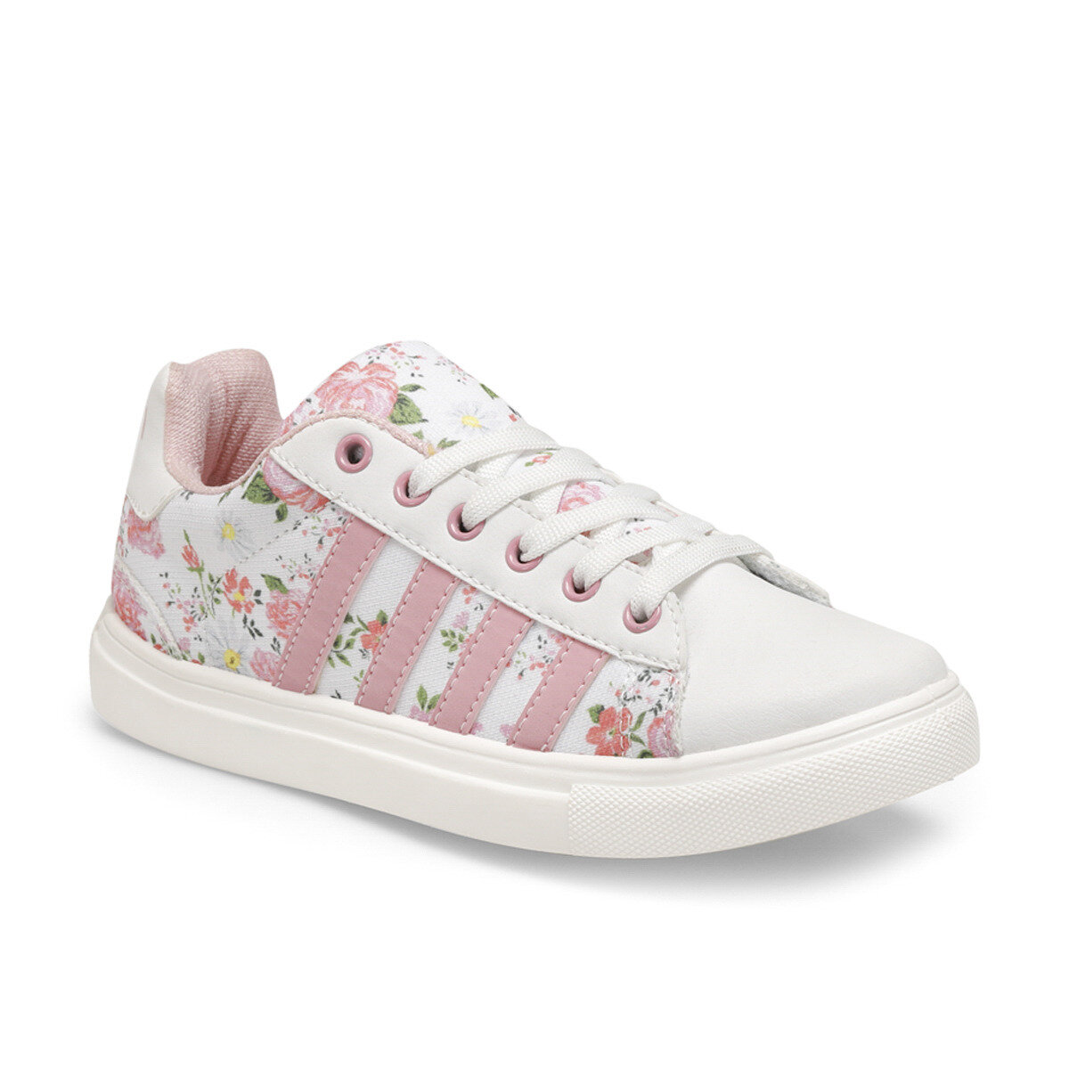 FLO VULDA F White Female Child Sneaker Shoes KINETIX