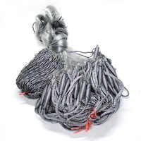 Fishing net FL accessory winter fishing shipping lead floats height 1,8 m length 30 m single layer White line