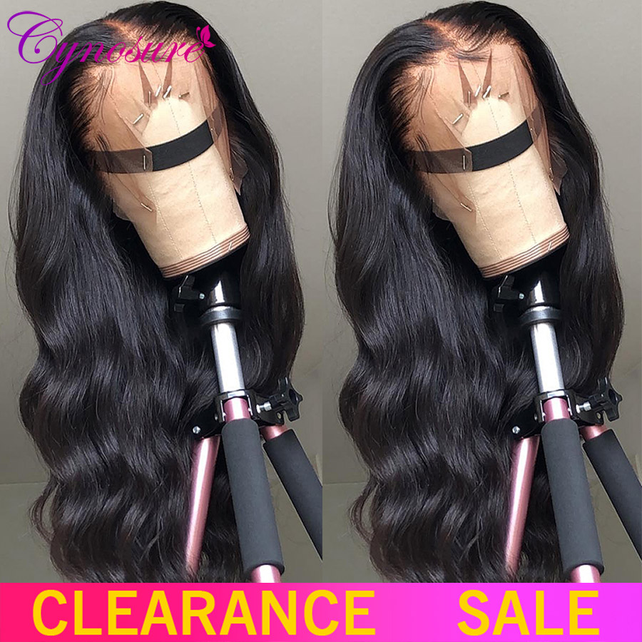 Cynosure Wig Human-Hair-Wigs Lace-Frontal Body-Wave Pre-Plucked Hd Transparent Peruvian