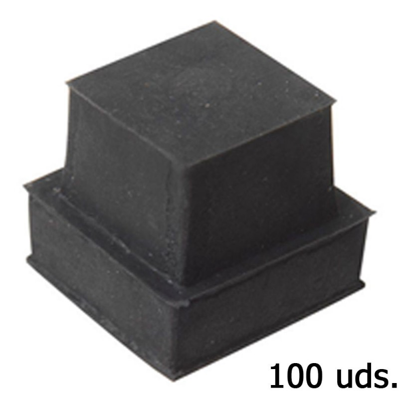Cone Square Rubber 23x23mm. Bag 100 Pcs
