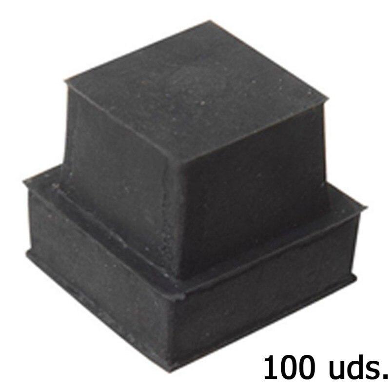 Cone Square Rubber 32x32mm. Bag 100 Pcs