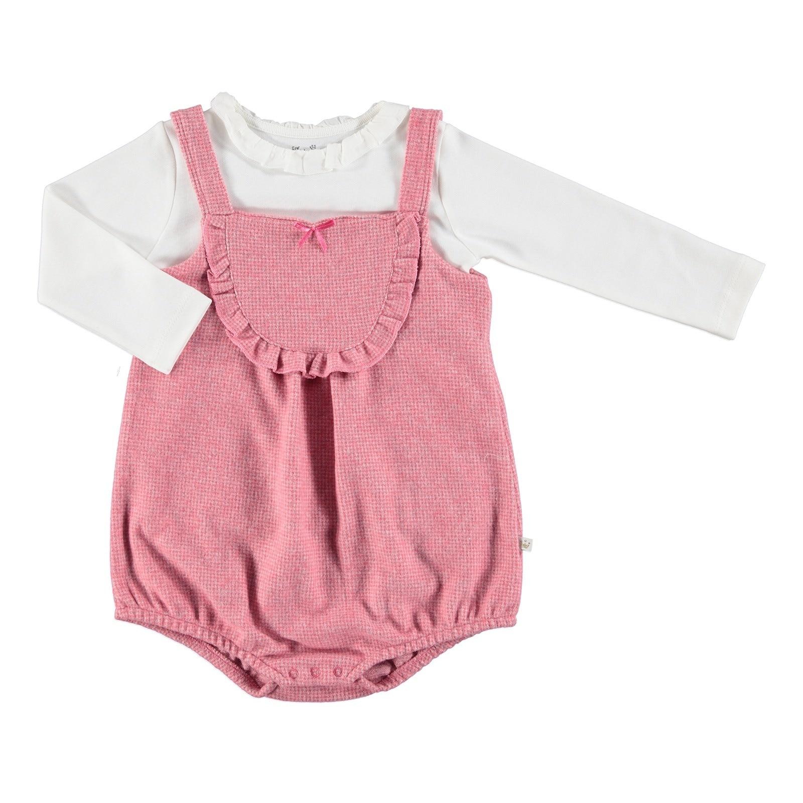 Ebebek For My Baby Bella Ruffled Short Romper Sweatshirt 2 Pcs