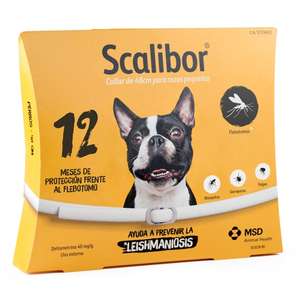 Scalibor Antiparasitic Collar For Dogs-48 Cm Necklace Antiparasitic For Dogs That Protect Mosquito Flebotomo