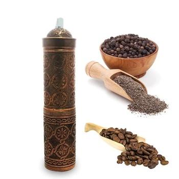 Długa szlifierka ręczna do kawy i pieprzu 21cm-data Phantom-stop cynku tanie i dobre opinie TR (pochodzenie) Ostrze kawy młynki