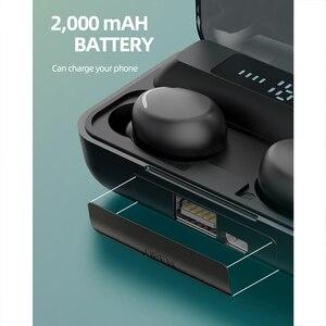 Image 3 - Ubeamer kablosuz kulaklık dokunmatik kontrol, LED ekran, gürültü iptal kulaklık, su geçirmez, en iyi Bluetooth F9 insan mikrofonlu kulaklık