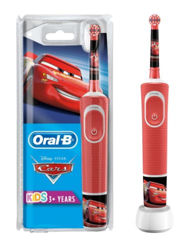 Oral-b rechargeable toothbrush D100 cars special series for kids image