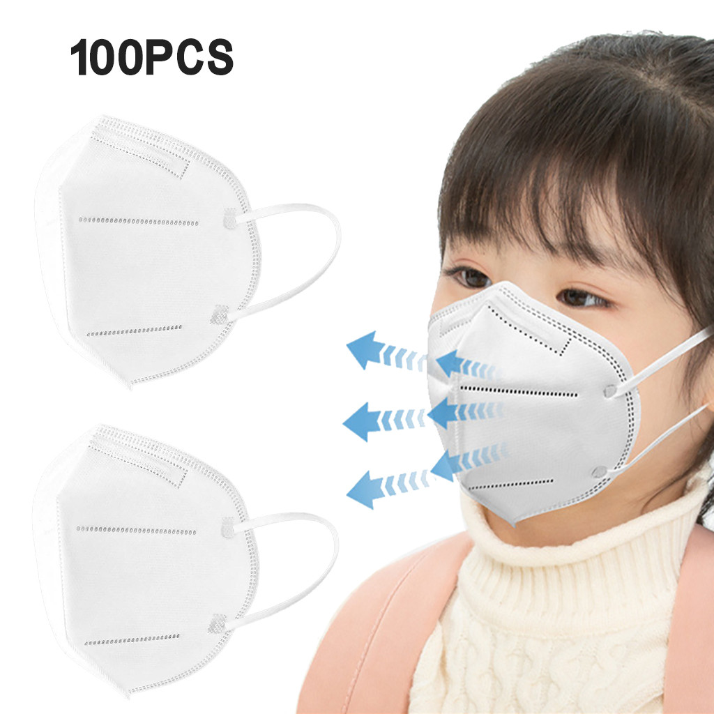 100 ПК mascarilla ffp2 infantil, для детей возрастом от 5 до слоев фатина модные маска на лицо fpp2 mascarilla Испании детей masken ffp2-де-6-9,