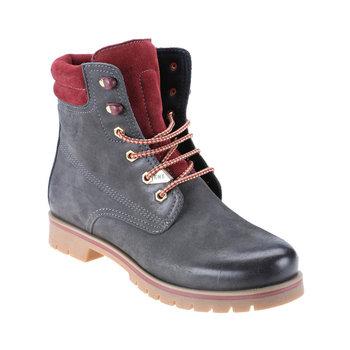 FLO 1252206 antracyt męskie buty KINETIX tanie i dobre opinie Sztuczna skóra