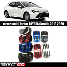 2pcs new no drilling gas brake foot pedal cover red aluminum alloy foot pedal covers for toyota rav4 rongfang 2019 2020 ESPORTCAR Gas Brake Foot Pedal AT Cover For To yota for Corolla 2019 2020 Accelerator Gas Pedal Brake Pedal Covers