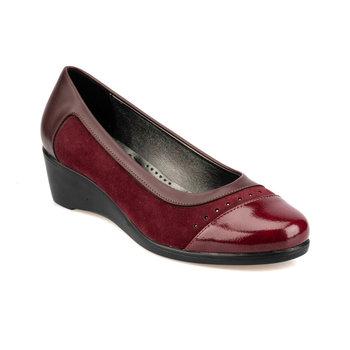 FLO 92 151036 Z burgundowe buty damskie Polaris tanie i dobre opinie Trzciny