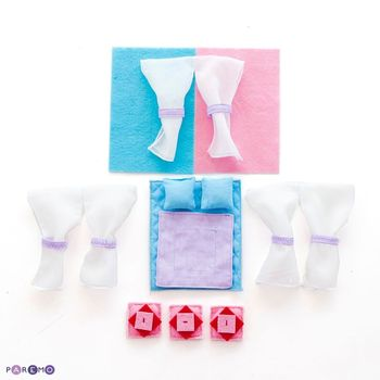 Doll House Accessories PAREMO  Textile set series enclosed houses \Anastasia\ for children toys for kids game furniture dolls doll houses furniture for doll houses bed for dolls accessories fifty houses