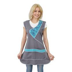 Female working apron for seller ivuniforma tenderness Gray