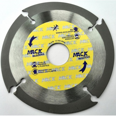 DISK TRONZADO WOOD 125 MM. MACK-125 PC