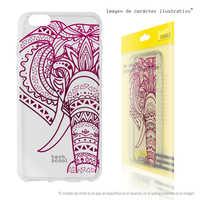 FunnyTech®Silicone Case for Alcatel 3V L Elephant Design transparent vers.2