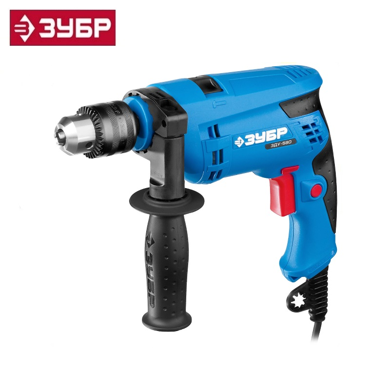 купить Hammer drill Zubr Professional ZDU-580 ERM2, cartridge 13mm, reverse, d: steel-10 mm / concrete-13 mm / wood-20 mm, 0-3000 rpm недорого