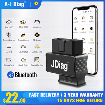 JDiag Faslink M2 OBD2 car diagnostic Scanner ELM327 Bluetooth4.0Car Fault ToolRead/Clear Code Automotive Engine Check Instrument