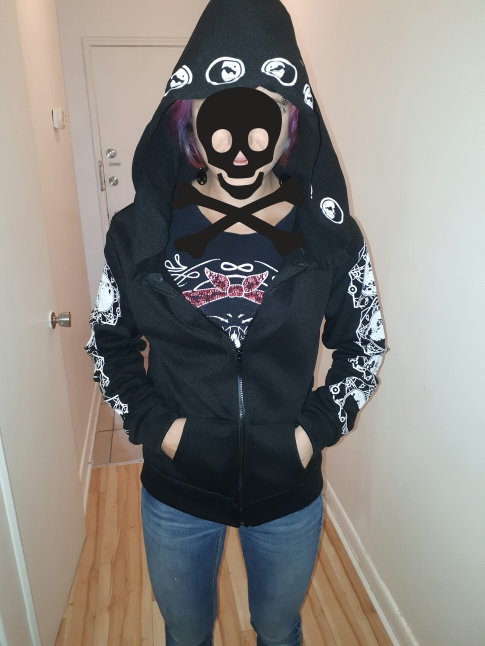 Gothic Moon Print Long Sleeve Hoodies photo review