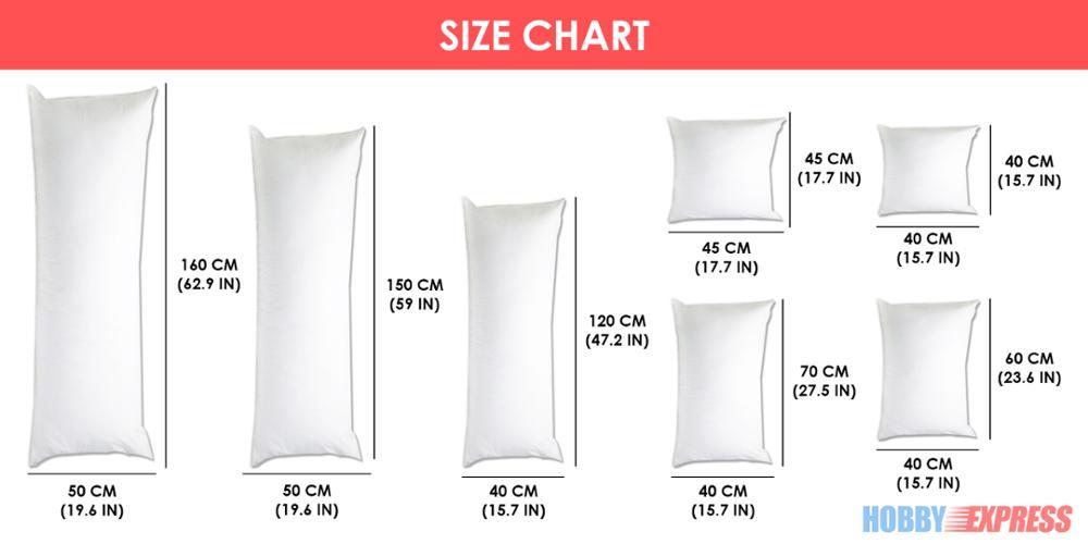 hobby express super comfort anime dakimakura hugging body inner pillow square cushion interior home use 150x50 cm or 160x50 cm