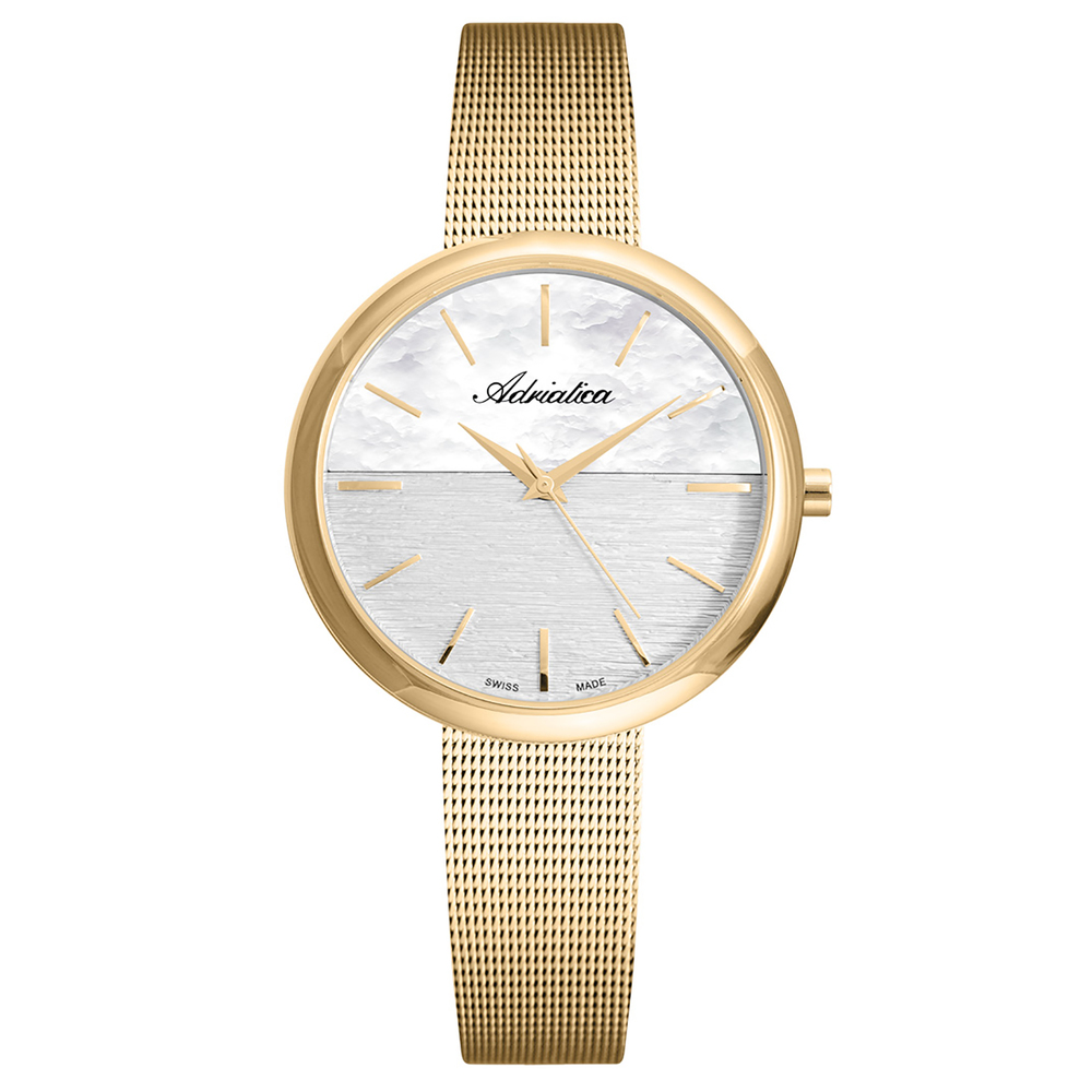 Women's Watch A3525.1117q On A Steel Bracelet With PVD Coated Mineral Glass SUNLIGHT