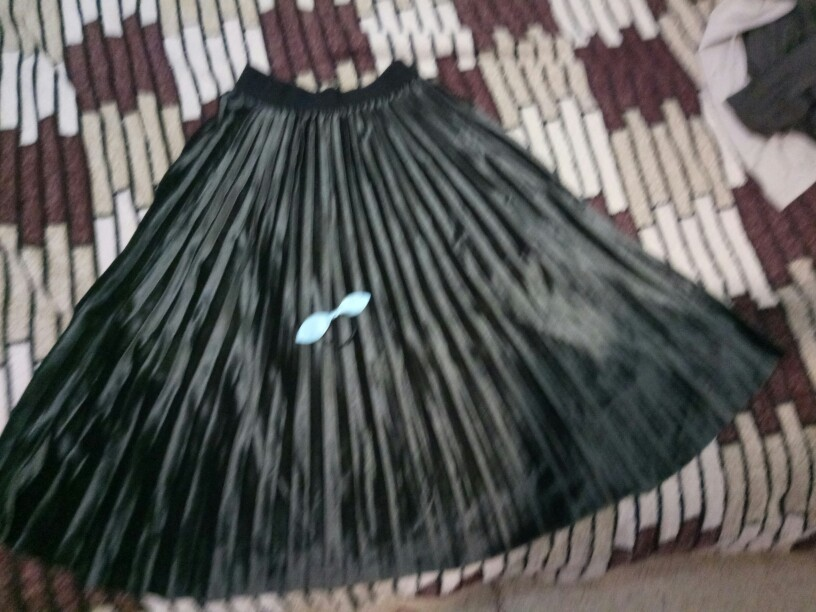 Fashion Autumn And Winter High Waisted Skinny Female Velvet Skirt Pleated Skirts Pleated Skirt Office Lady