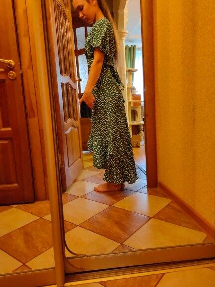HiloRill Summer Beach Maxi Dress Women Floral Print Boho Long Dress Ruffles Wrap Casual V Neck Split Sexy Party Dress Robe Femme|Dresses|   - AliExpress