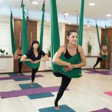 Hammock Strap Fitness-Equipment Yoga-Balance Fly Antigravity Green-Blue-Orange-Green