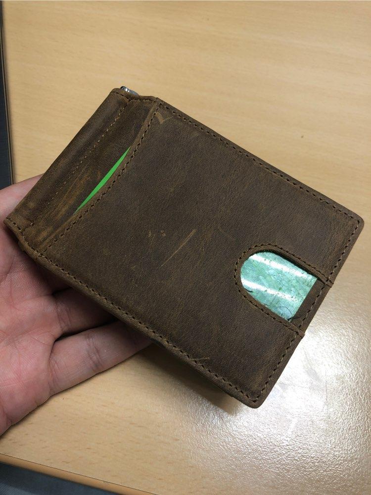 Clipe de dinheiro Cartão Cowskin Masculino
