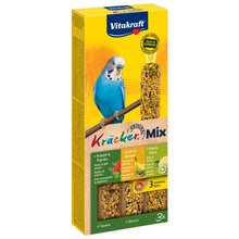 Лакомство для птиц VITAKRAFT Крекеры для волнистых попугаев ананас, банан, киви(3шт.уп