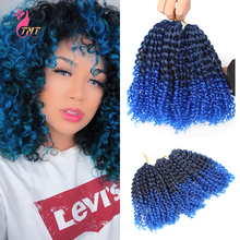Synthetic Marlybob Jerry Curl Jamaican Bounce Crochet Hair Afro Kinky Curly Crochet Braids Ombre Braiding Hair Extensions cheap TMT HAIR Low Temperature Fiber CN(Origin) Marley Braids 20strands pack 8 inch 90g(±5g) 3 sets per pack Gray Pink Purple And Other Different Gradient Colors
