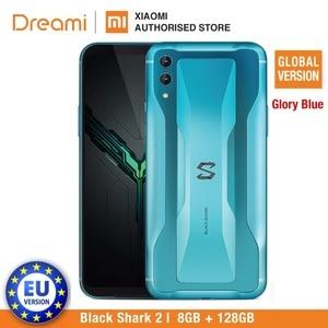 Image 1 - Küresel sürüm Xiaomi siyah köpekbalığı 2 128GB Rom 8GB Ram gölge siyah oyun telefon (yepyeni) blackshark2128 Smartphone cep