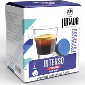 Intense decaf, 16 juror coffee capsules for Dolce Gusto