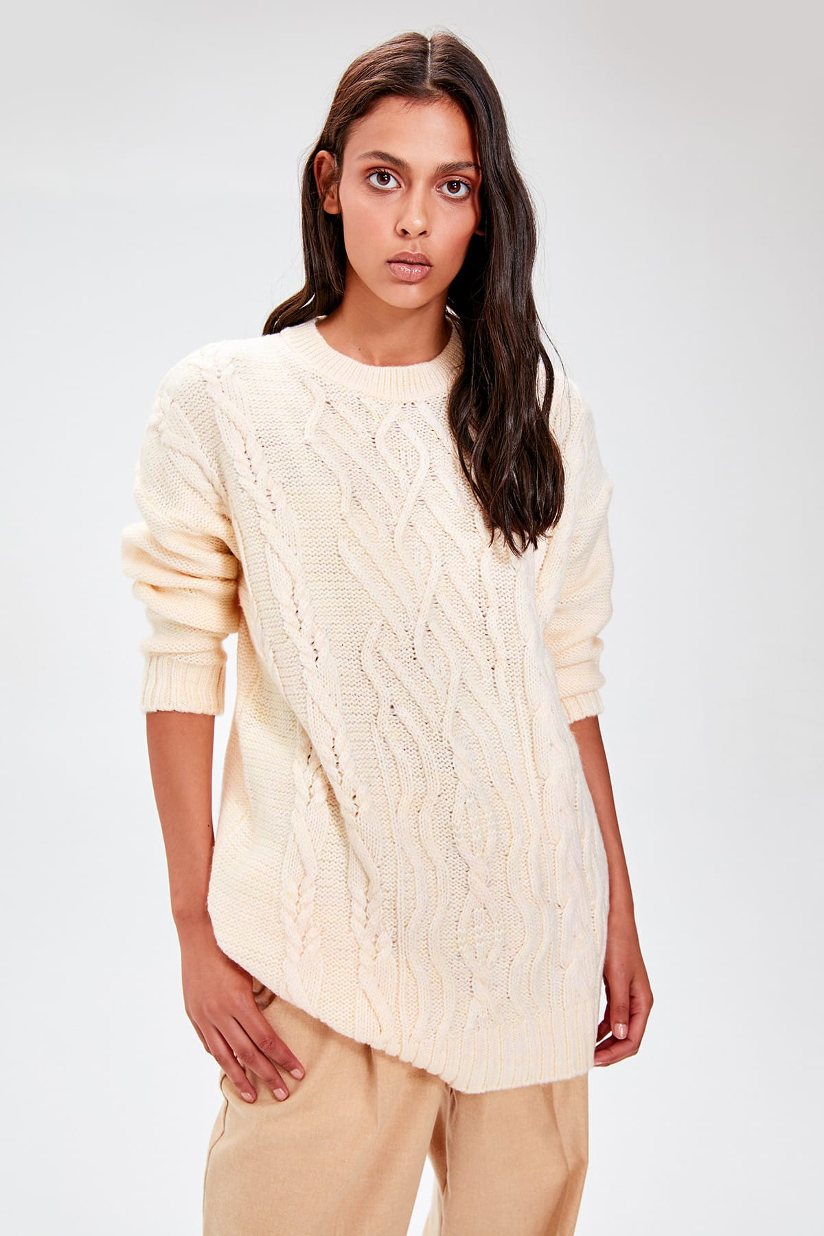 Trendyol Yellow Bike Collar Sweater Sweater TWOAW20FH0030