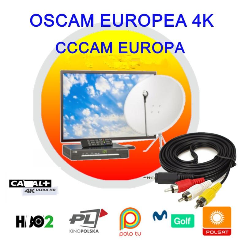 Oscam Europea Cline Germany Clines Spain Poland For Europe Portugal Enigma 2 Sat Receiver Movistar DAZN 4K Cccam Europa Server