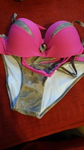 NAKIAEOI 2019 Newest Sexy Bikini Set Push Up Swimwear Women Swimwsuit Patchwork Bathing Suit Summer Beach Wear Swimming S~2XL|Bikini Set| |  - AliExpress