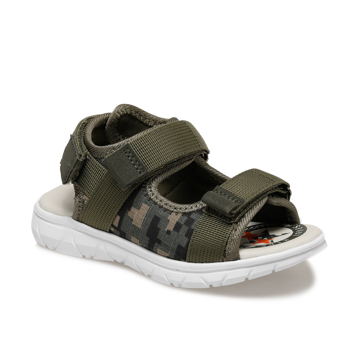FLO 512660.F Khaki Male Child Sandals Polaris