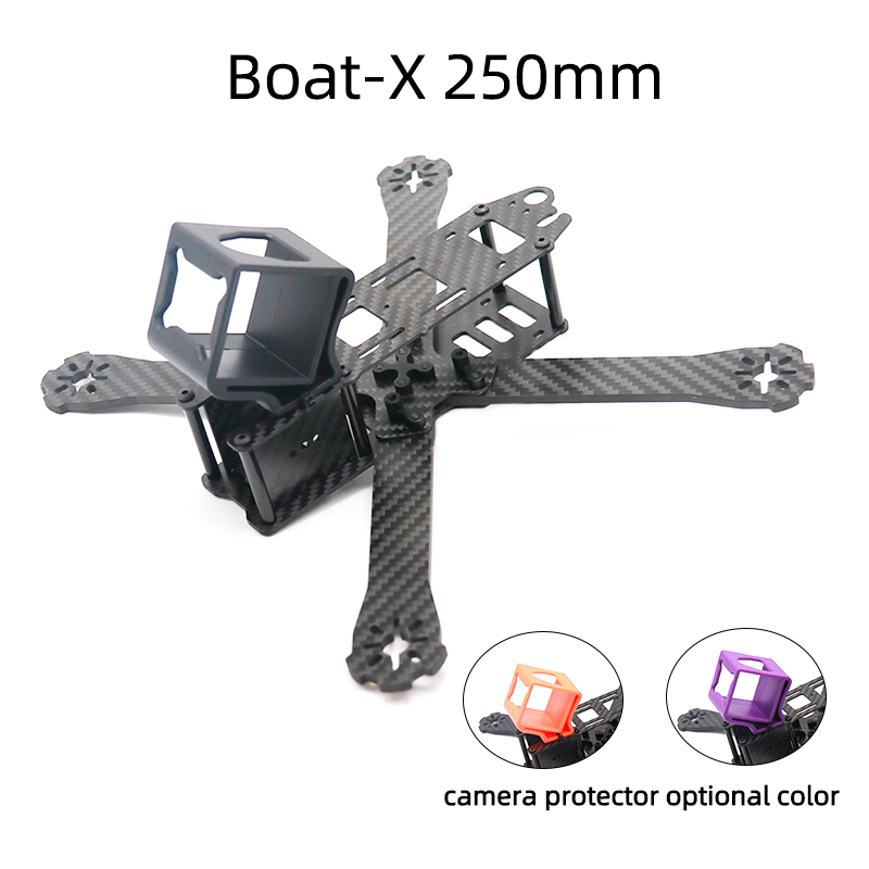 TCMMRC FPV Frame Boat X Wheelbase 220mm 250mm 4mm Arm Carbon Fiber For FPV Racing Drone Frame Parts-in Parts & Accessories from Toys & Hobbies