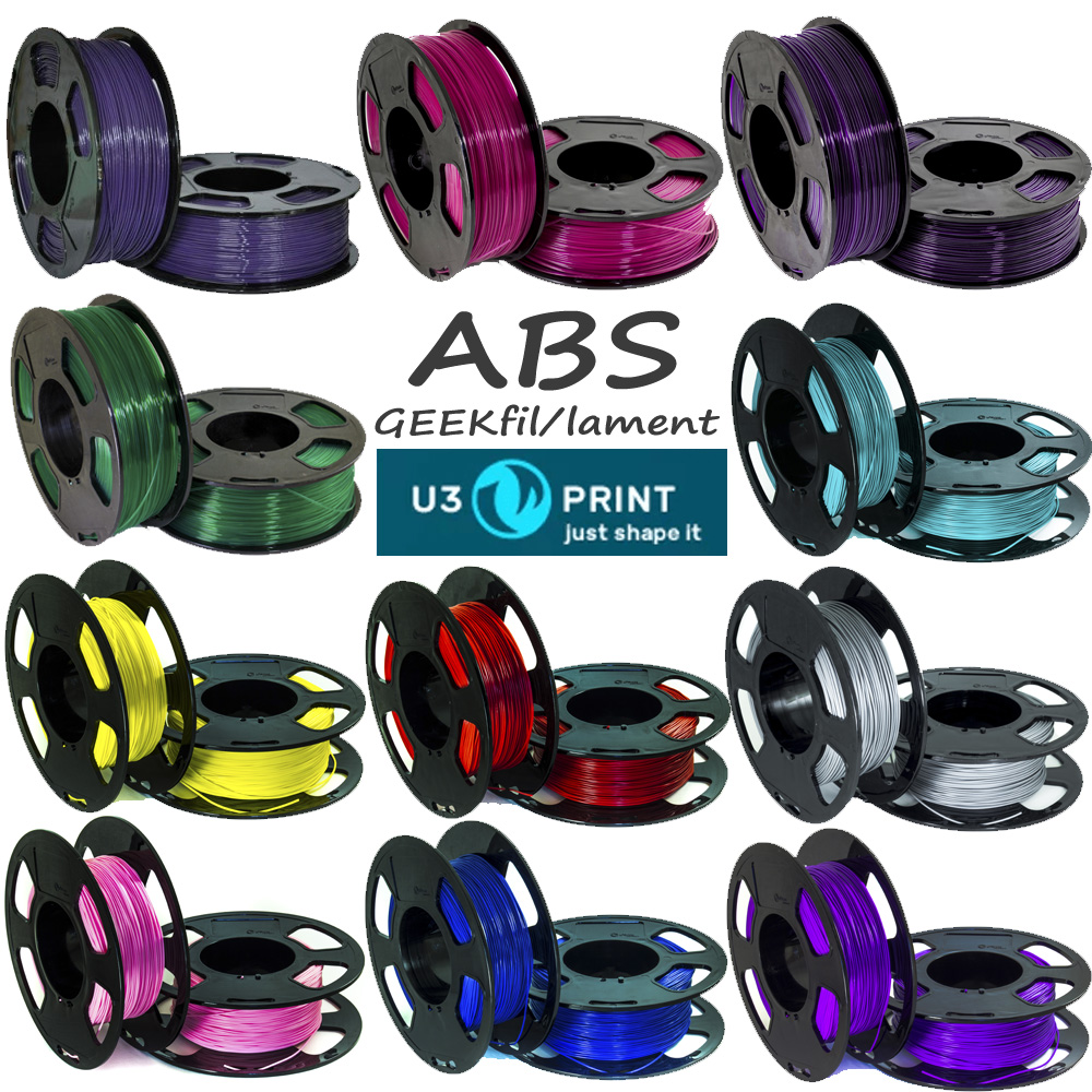 ABS филамент для 3D-печати 1,75мм 1кг от GEEKfil/lament U3Print